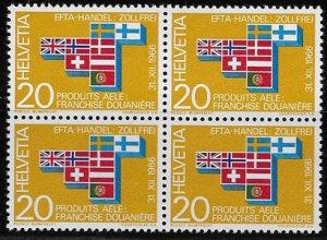 Switzerland, block of four SC 481, MH, OG