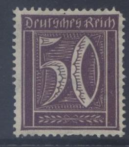 GERMANY. -Scott 167 - Definitives -1921 -VFU - Red Violet -Single 50pf Stamp