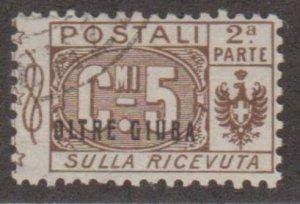 Oltre Giuba Scott #Q1 Stamp - Used Single