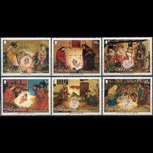 GIBRALTAR 2002 - Scott# 918-23 Christmas Set of 6 NH