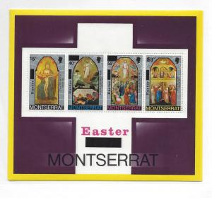 Montserrat, 336a, Paintings - Easter 1976 S/S(4),**MNH**