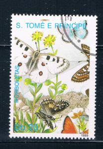 Saint Thomas and Prince Is 900 Used Butterflys ur (GI0417)+