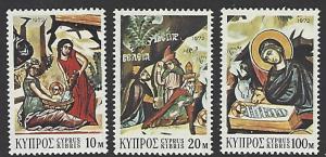 Cyprus #390-392 MNH Set of 3