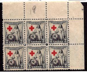 702 Mint,OG,NH... Corner Margin Block of 6... SCV $2.10