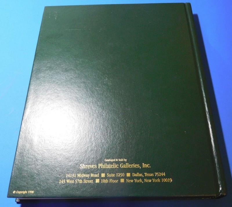 Stamp Auction Catalog Shreves 1998 United States Stamps Hard Cover