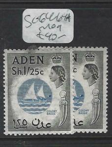 ADEN (P0204B)  QEII 1/- 25C     SG 64-64A      MOG