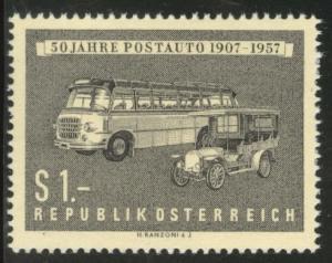 Austria Osterreich Scott 617 MNH** 1957 Postal Motor coaches