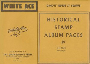 WHITE ACE Ireland Stamp Album Supplement Blank Pages - 10 Pages