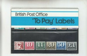 GB 1975 POSTAGE DUE  PRESENTATION PACK Pack No 93  MNH