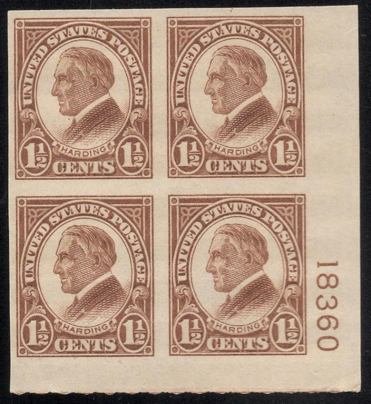 US#631 Yellow Brown - P# Block 4 - Unused - O. G.