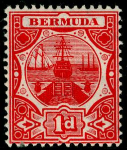 BERMUDA SG38, 1d Red, LH MINT. Cat £25.