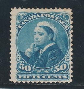 CANADA 1893 QV WIDOW 50C SPACEFILLER