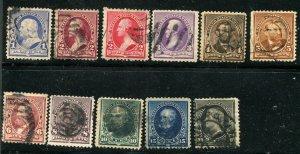 Scott #219-#228 1c-30c Banknote issue F-VF CV $145 ⭐⭐⭐⭐⭐⭐