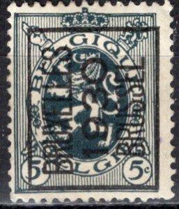 Belgium; 1929: Sc. # 201; O/Used Brussel Precancel Single Stamp