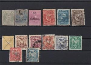 DOMINICA  & ECUADOR  MOUNTED MINT AND USED  STAMPS   R3275