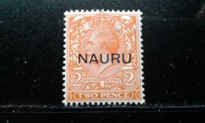 Nauru #4d mint hinged e1812.2742