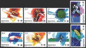 Rwanda. 1981. 1127-34. Communication, space, satellites. MNH.