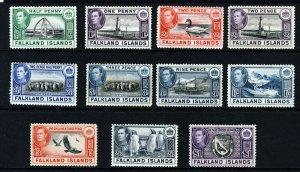 FALKLAND ISLANDS King George VI 1938-50 PART SET TO £1 SG 146 to SG 163 MINT