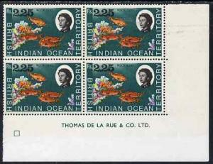 British Indian Ocean Territory 1968-70 Rock Cod 2r25 impr...