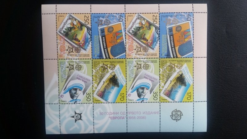 50th anniversary of EUROPA stamps - Macedonia 2x set in sheet ** MNH