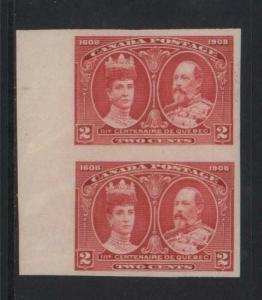 Canada #98a XF Mint Imperforate Pair