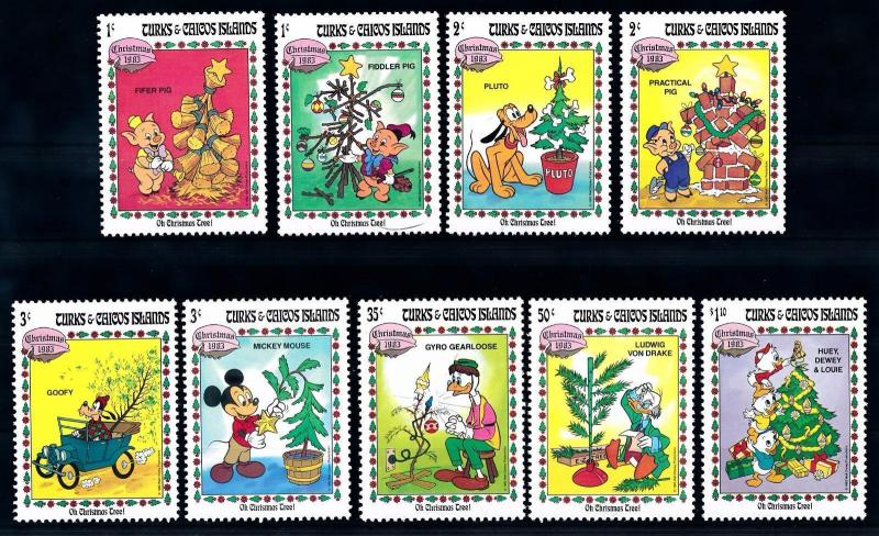 [62810] Turks & Caicos Islands 1983 Disney Mickey Friends - Christmas Tree  MNH