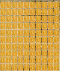 #715 10¢ WASHINGTON F-VF OG NH FULL SHEET OF 100 CV $1,570 WL3482A