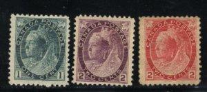 Canada 75-77   Mint 1898-99   PD