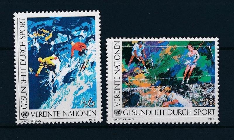[43117] United Nations Un Vienna 1988 Sports Skiing Tennis Health in sport MNH