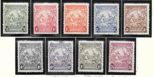 Barbados #193-201 set (MLH) CV$29.80