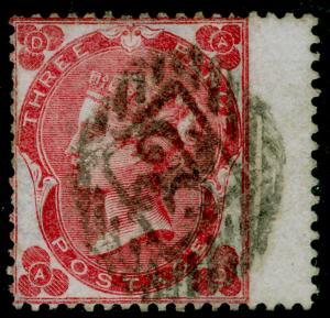 SG75, 3d deep carmine-rose, FINE USED. Cat £575. AD