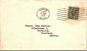 Harrow UK > Voralberg Austria 1952 Kunz Auktion