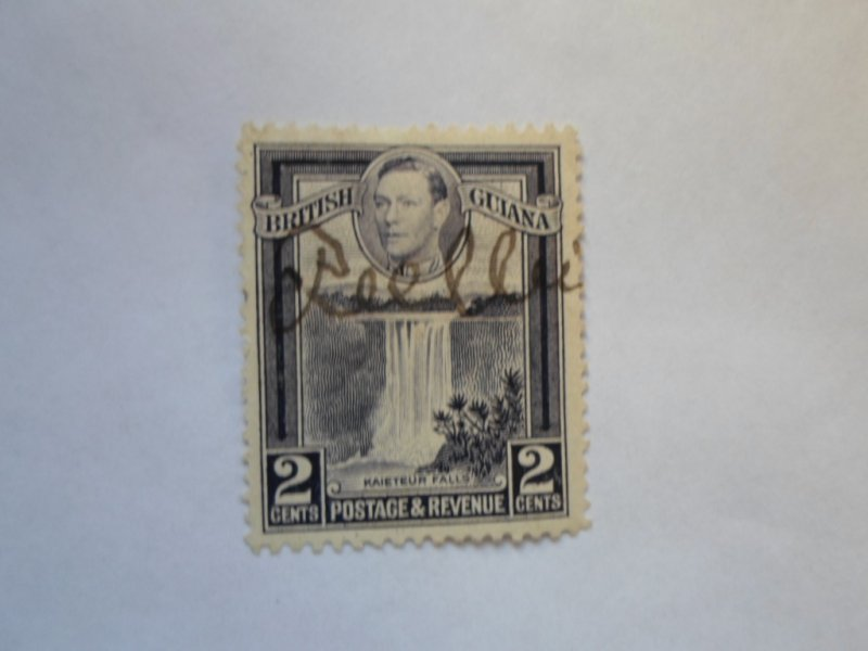 british guiana stamP USED HR #1 ) SIGNED ) #1