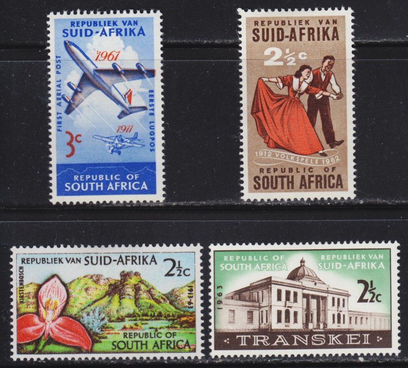 South Africa Scott 280-81, 284, 287 F to VF mint OG HHR.