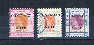 Hong Kong   Used Stamp Duty Contract Note  (H0080)
