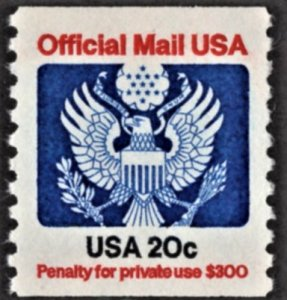 US O135 MNH VF Official USA 20 Cent Coil Perforated 11 Vertically