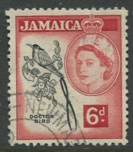 Jamaica -Scott 166 - QEII Definitive -1956 - Used - Single 6p Stamp