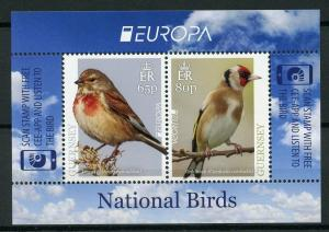 Guernsey 2019 MNH National Birds Europa Finches Linnets 2v M/S Stamps