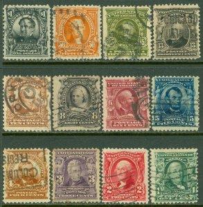 EDW1949SELL : USA 1902-03 Scott #300-11 Used. Minor faults. Catalog $171.00.