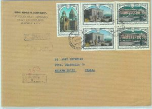 84040 - ARMENIA/ USSR - Postal History -   Registered cover to ITALY  1970's