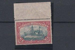 GERMAN EAST AFRICA  1905 - 20   S G 44A   3R  BLACK  RED MARGINAL   MNH