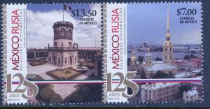 MEXICO 2956a, Diplomatic Rels Mexico-Russia 125th Anniv. MNH