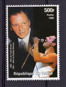 Chad 1999 Sc#810i Freddie Mercury/Frank Sinatra Set (1) Perforated MNH