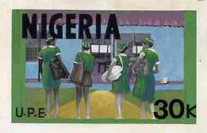 Nigeria 1976 Universal Primary Education - original hand-...