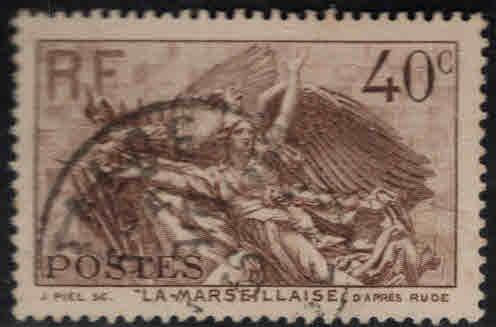 FRANCE Scott 310 Used 1936 La Marseillaise stamp