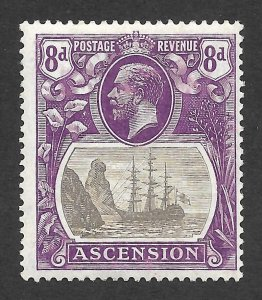 Doyle's_Stamps: MH 1924 British Ascension 8-Pence KGV Scott  #18* VF