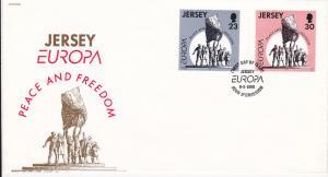 Jersey 708-709 Set FDC Europa