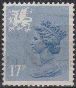 0757) G.B. - Wales. 1986. Used. SG w44a 17p Blue-grey Type II. c£50.00+