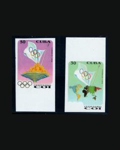 VINTAGE:CUBA 1994  2 POF NH  IMPERF EDF 3915-16 LOT 1994vv