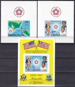 Liberia #769-70, C214  MNH Imperf  CV $24.00 (Z8919)